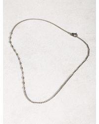 John Varvatos | Metallic Asymmetric Silver Necklace for Men | Lyst