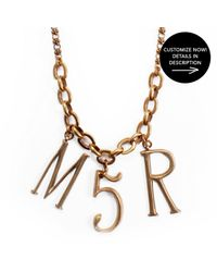 Lulu Frost | Metallic Plaza Letter + Number Custom Necklace | Lyst