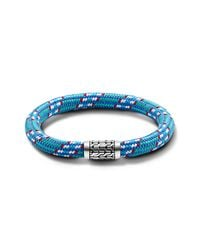 John Hardy | Station Bracelet On Multicolor Light-Blue Sailing Cord | Lyst