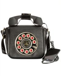 Betsey Johnson | Black Phone Crossbody | Lyst