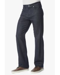 7 For All Mankind Blue Luxe Performance: Austyn Relaxed Straight With Clean Pocket In Deep Well (long Inseam) for men