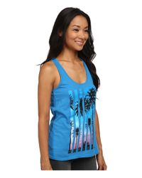 Hurley - Blue Patriotic Paradise Perfect Tank Top - Lyst