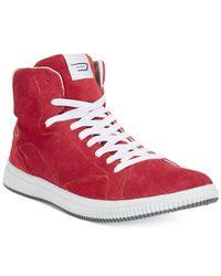 DIESEL | Red Urbany Sprawl Hi-Top Sneakers for Men | Lyst