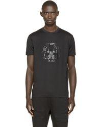 Markus Lupfer | Gray Black Skull Print Markus T_shirt for Men | Lyst