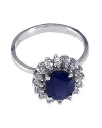 Effy | Blue Royalty 14kt. White Gold Sapphire And Diamond Ring | Lyst