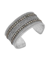 Lucky Brand | Metallic Pave Dream Cuff Bracelet | Lyst