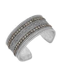 Lucky Brand - Metallic Pave Dream Cuff Bracelet - Lyst
