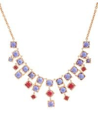 Larkspur & Hawk | Metallic Gold And Topaz Bella Necklace | Lyst