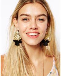 ASOS | Black Rio Tassel Earrings | Lyst