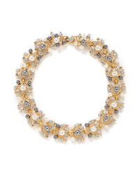 Kenneth Jay Lane - Multicolor Faux Pearl Crystal Vine Necklace - Lyst