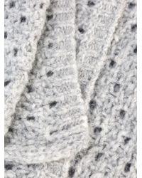 Lala Berlin | Gray Crochet Knit Scarf | Lyst