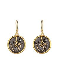 Satya Jewelry | Black 'om' Drop Earrings | Lyst