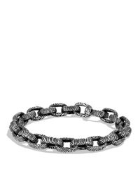 David Yurman | Metallic Iron Wood Oval Small Link Bracelet | Lyst