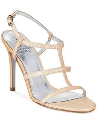 Adrianna Papell | Natural Adrianna Pappell Dalton T-strap Sandals | Lyst
