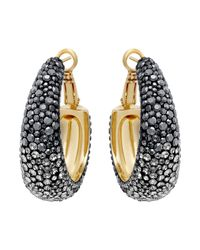 Swarovski - Metallic Abstract Pierced Earrings - Lyst