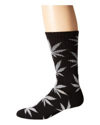 Huf | Black Glow In The Dark Plantlife Sock | Lyst