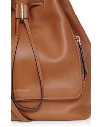Karen Millen | Brown Structured Bucket Bag | Lyst