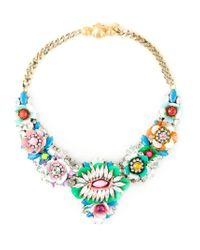 Shourouk | Multicolor 'apolonia Flower' Necklace | Lyst