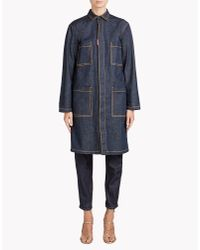 DSquared² - Blue Denim Coat - Lyst