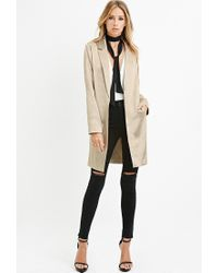 Forever 21 | Contemporary Longline Metallic Blazer | Lyst