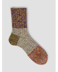 Mauna Kea - Brown Mixed Melange Four Part Sock Purple for Men - Lyst