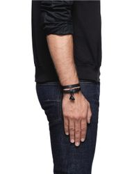 Alexander McQueen | Black Double Wrap Leather Skull Bracelet for Men | Lyst