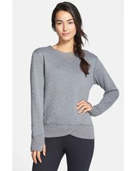 Brooks Gray 'fly-by' Quilted Running Sweatshirt