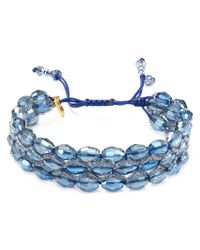 Chan Luu | Metallic Triple Row Beaded Bracelet | Lyst