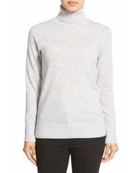 Nordstrom Collection | Gray Cashmere Turtleneck Sweater | Lyst