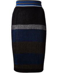 Vivienne Westwood Red Label | Black Ribbed Knit Block Stripe Skirt | Lyst