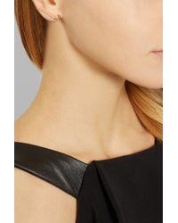 Jennifer Fisher - Metallic Apostrophe Rose Gold-Plated Earrings - Lyst
