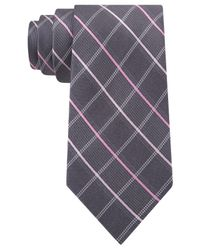 Michael Kors | Gray Michael Prefect Grid Tie for Men | Lyst