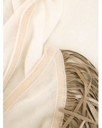 Antonia Zander | White Fringed Shawl | Lyst