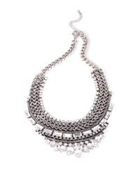 Forever 21 | Metallic Stacked Tribal-Inspired Necklace | Lyst