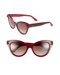 Valentino | Red 'rockstud' 53mm Cat Eye Sunglasses | Lyst