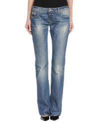 Dondup | Blue Denim Trousers | Lyst