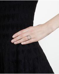 Rosa De La Cruz - Brown 18k White Gold Diamond Smile Ring - Lyst