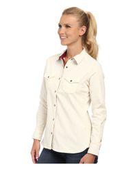 Woolrich - White Pendulum Cord Shirt Ii - Lyst