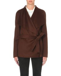 JOSEPH | Brown Lisa Wool And Cashmere-blend Coat | Lyst