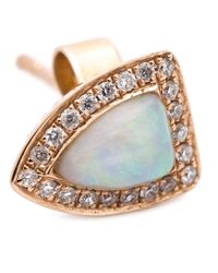 Anita Ko - Metallic 18kt Opal And Diamond Studs - Lyst