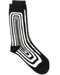 Henrik Vibskov - Black 'optical' Socks for Men - Lyst