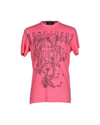 DSquared² - Pink T-shirt for Men - Lyst