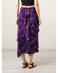 Burberry Prorsum - Multicolor Layered Pleated Skirt - Lyst