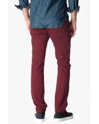 7 For All Mankind - Luxe Performance Sateen The Straight In Red for Men - Lyst