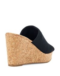 Lucky Brand | Black Marilyn Cork Wedge Sandals | Lyst