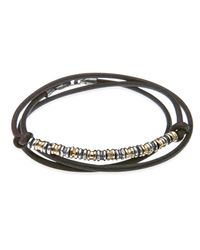 Platadepalo | Metallic Resin Bronze & Thin Leather Bracelet | Lyst