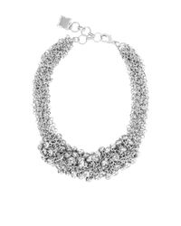 BCBGMAXAZRIA   Metallic Drop Stone Necklace   Lyst