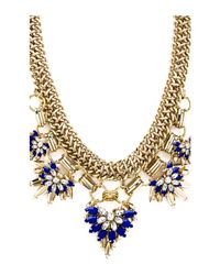BCBGMAXAZRIA - Blue Floral Stone Chain Necklace - Lyst