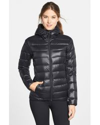 Adidas - Black Water Resistant Quilted Down Jacket - Lyst