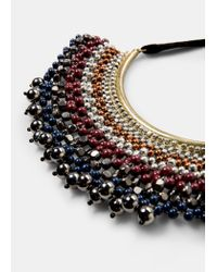 Violeta by Mango | Metallic Mixed Bead Necklace | Lyst